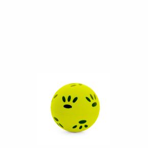 Gumový žlutý míček - tlapky 7,2 cm, gumová hračka