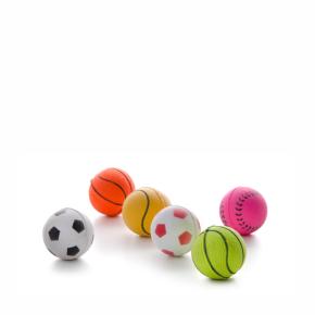 Gumové míčky v síťce mix - 4 cm - 6 ks, gumová hračka