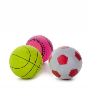 Gumové míčky v síťce mix - 9 cm - 3 ks, gumová hračka