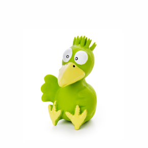 Latexové ptáče zelené, cca 13cm, latexová hračka