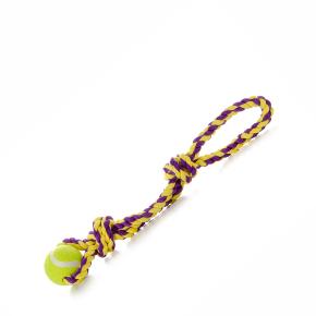 Bavlněné přetahovadlo + tenisák, hračka