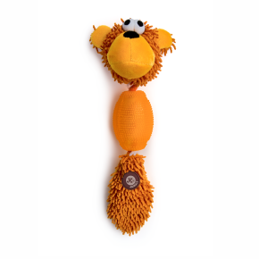 Opice mop + TPR míček, plyšová pískací hračka