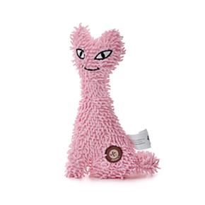 Kočka plyš růžová, plyšová pískací hračka