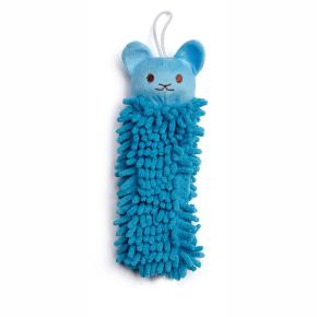 Modrá koala mop, plyšová pískací hračka