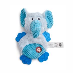 Plyšový slon s TPR packami, plyšová pískací a šustící hračka