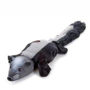 Plyšový skunk slatexovou hlavou, plyšová pískací hračka