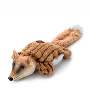 Plyšová liška slatexovou hlavou, plyšová pískací hračka