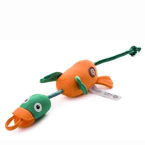 Létající/vystřelovací kachna, polyesterová pískací plovoucí hračka