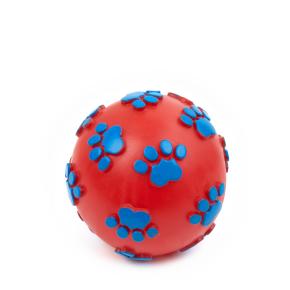 Vinylový míč tlapky 11 cm, vinylová (gumová) hračka