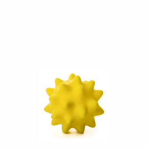 Vinylový míč s bodlinami žlutý, vinylová (gumová) hračka