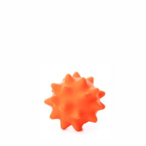Vinylový míč s bodlinami oranžový, vinylová (gumová) hračka
