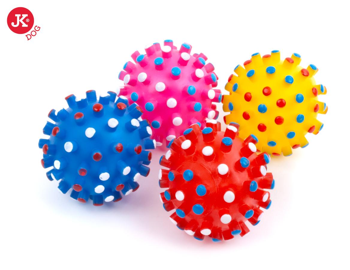 JK ANIMALS vinylová pískací hračka míč s bodlinami | © copyright jk animals, všechna práva vyhrazena