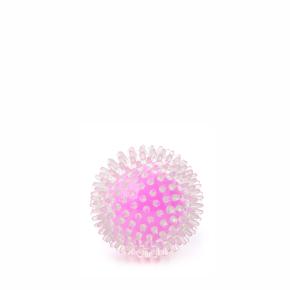 TPR míč s bodlinami růžový, odolná (gumová) hračka ztermoplastické pryže