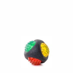 Blikající LED TPR míč STRONG, odolná (gumová) hračka ztermoplastické pryže