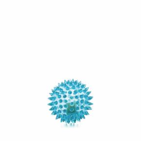 LED TPR míček s bodlinami modrý, odolná (gumová) hračka ztermoplastické pryže