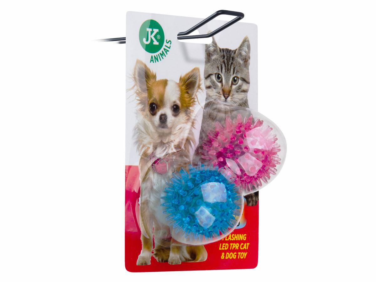JK ANIMALS LED TPR míček s bodlinami 2 ks | © copyright jk animals, všechna práva vyhrazena