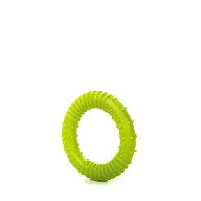 TPR – kroužek zelený, odolná (gumová) hračka ztermoplastické pryže