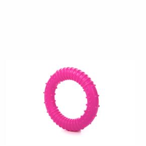 TPR – kroužek růžový, odolná (gumová) hračka ztermoplastické pryže