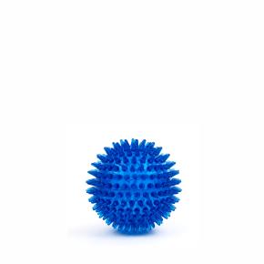 TPR - Míč s bodlinami - modrý, odolná (gumová) hračka ztermoplastické pryže