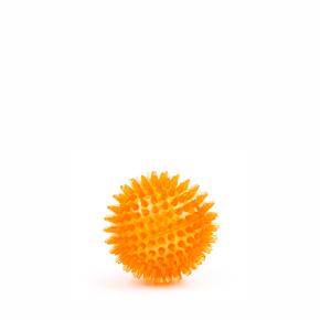 TPR - Míč s bodlinami - oranžový, odolná (gumová) hračka ztermoplastické pryže