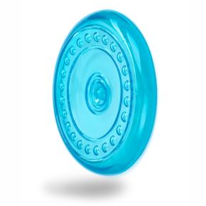 TPR - Frisbee - létající talíř - modrý, odolná (gumová) hračka ztermoplastické pryže
