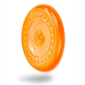 TPR - Frisbee - létající talíř - oranžový, odolná (gumová) hračka ztermoplastické pryže