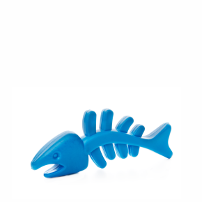 TPR - Modrá rybí kost, odolná (gumová) hračka ztermoplastické pryže