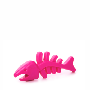 TPR - Růžová rybí kost, odolná (gumová) hračka ztermoplastické pryže