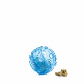 TPR – Snack ball modrý, odolná (gumová) hračka ztermoplastické pryže