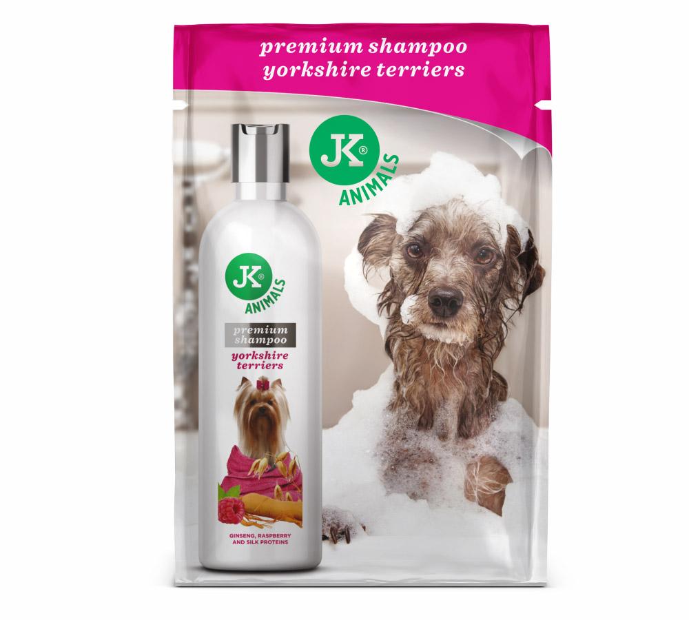 JK ANIMALS Prémiový šampon pro yorkšírské terriéry, 20ml | © copyright jk animals, všechna práva vyhrazena