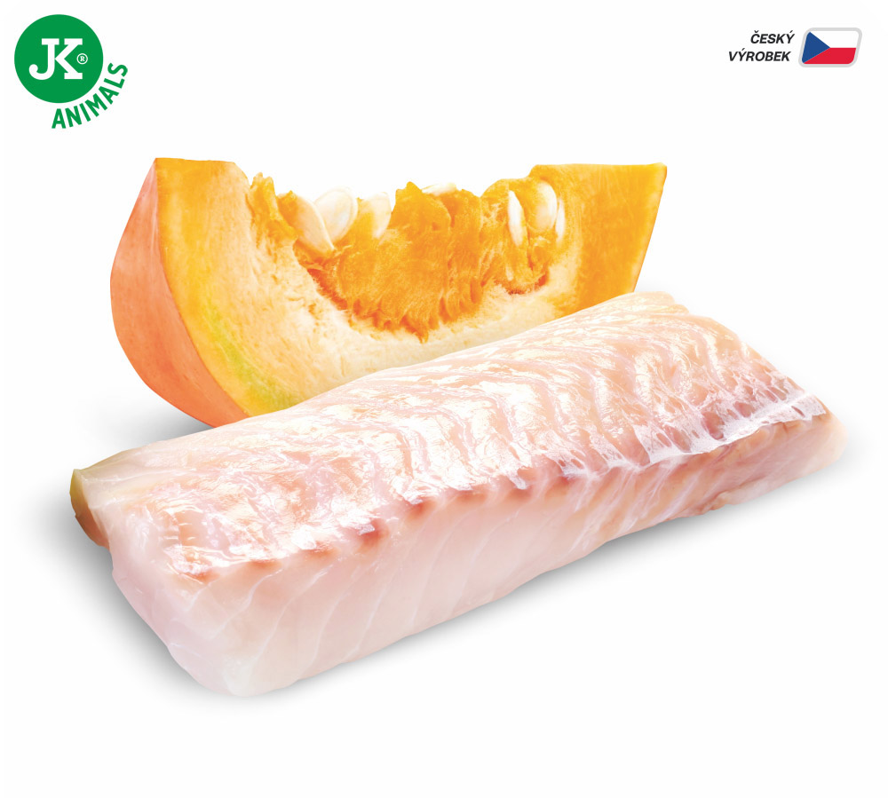 JK ANIMALS Fish & Pumpkin, Premium Paté with Chunks | © copyright jk animals, všechna práva vyhrazena