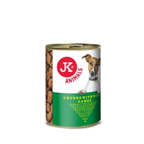 JK masová konzerva pro psy se zvěřinou 415g