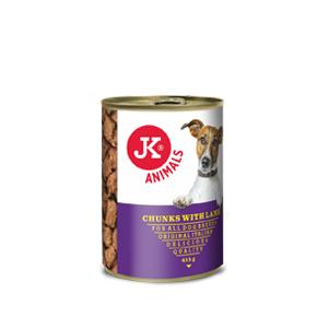 JK masová konzerva pro psy s jehněčím masem 415g