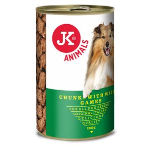 JK masová konzerva pro psy se zvěřinou 1230g