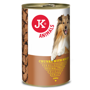 JK masová konzerva pro psy 1230g