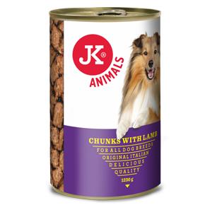 JK masová konzerva pro psy s jehněčím masem 1230g