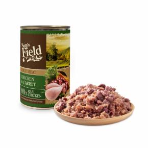 Sams Field True Chicken Meat & Carrot, superprémiová masová konzerva pro psy (Sam's Field)