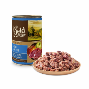 Sams Field True Lamb Meat & Apple, superprémiová masová konzerva pro psy (Sam's Field)