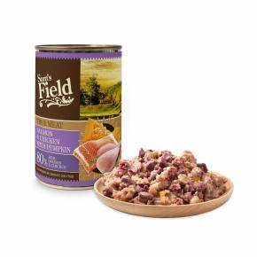 Sams Field True Salmon & Chicken With Pumpkin, superprémiová masová konzerva pro psy (Sam's Field)
