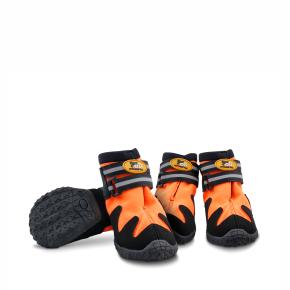 Boty, L - 6,4 cm oranžové