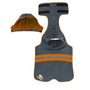 Mikina s kapucí, 3XL - oranžová