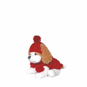 Kolekce Klasic č.2, červený svetr, čepice ašála sbambulemi