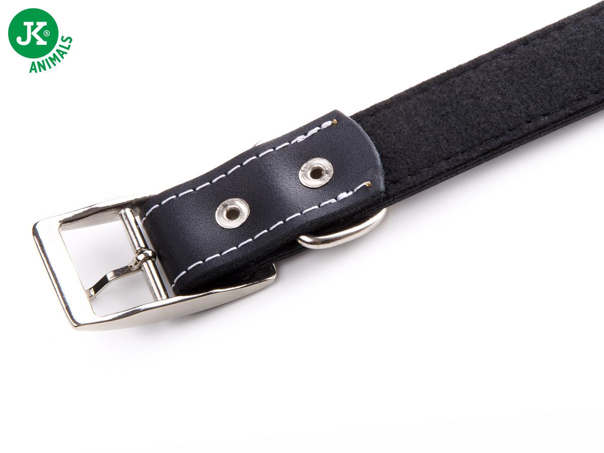JK ANIMALS Široký kožený obojek LUX 28 mm černý | © copyright jk animals, všechna práva vyhrazena