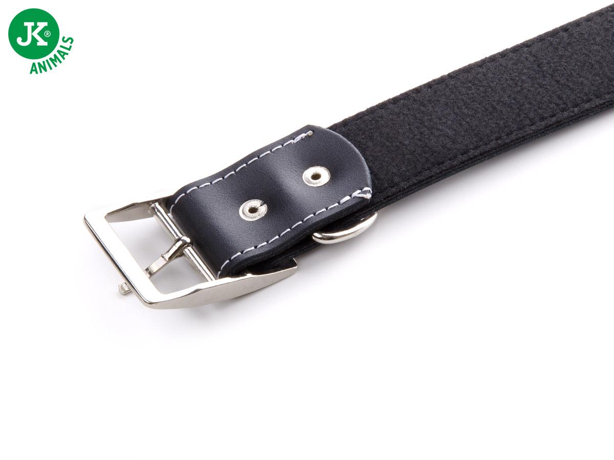 JK ANIMALS Široký kožený obojek LUX 38 mm černý | © copyright jk animals, všechna práva vyhrazena