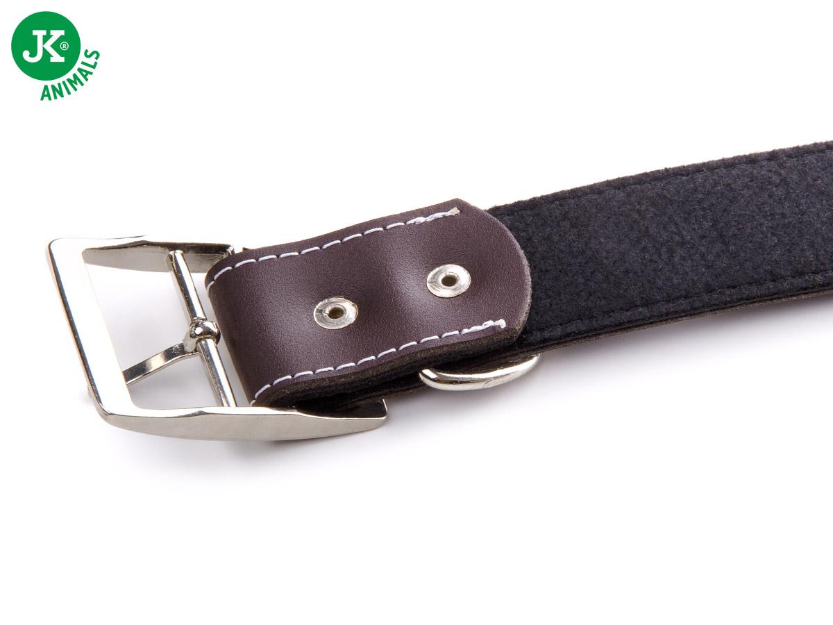 JK ANIMALS Široký kožený obojek LUX 38 mm hnědý | © copyright jk animals, všechna práva vyhrazena