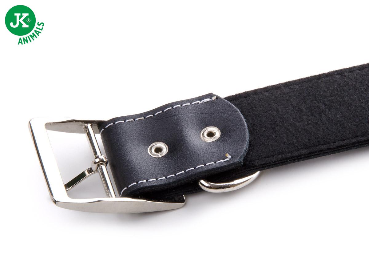 JK ANIMALS Široký kožený obojek LUX 43 mm černý   © copyright jk animals, všechna práva vyhrazena