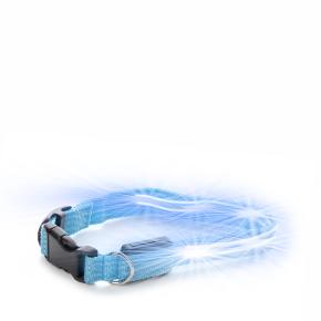 Nylonový LED obojek XS modrý