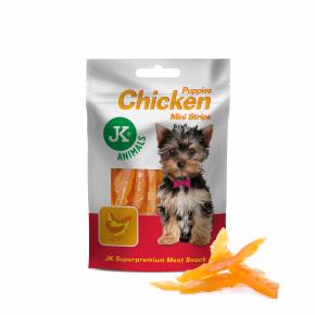 Meat Snack Puppy Chicken Strips, sušené kuřecí proužky pro štěňata, masový pamlsek, 50g