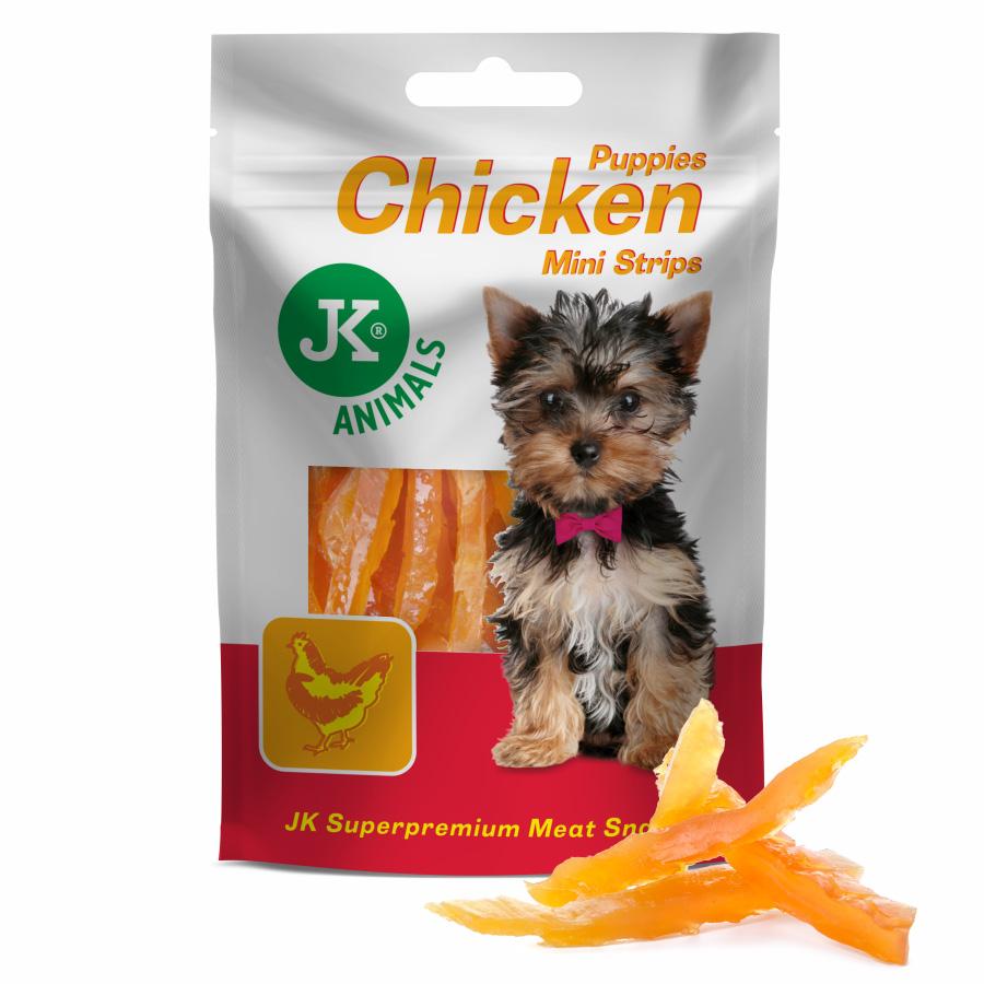 JK DOG MEAT SNACK PUPPY CHICKEN STRIPS – sušené kuřecí proužky pro štěňata | © copyright jk animals, všechna práva vyhrazena