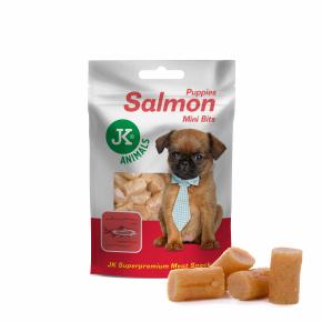 Meat Snack Puppy Salmon Bits, lososová mini pochoutka pro štěňata, masový pamlsek, 50g